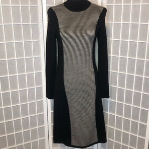 Lauren Ralph Lauren houndstooth sweater dress Sm